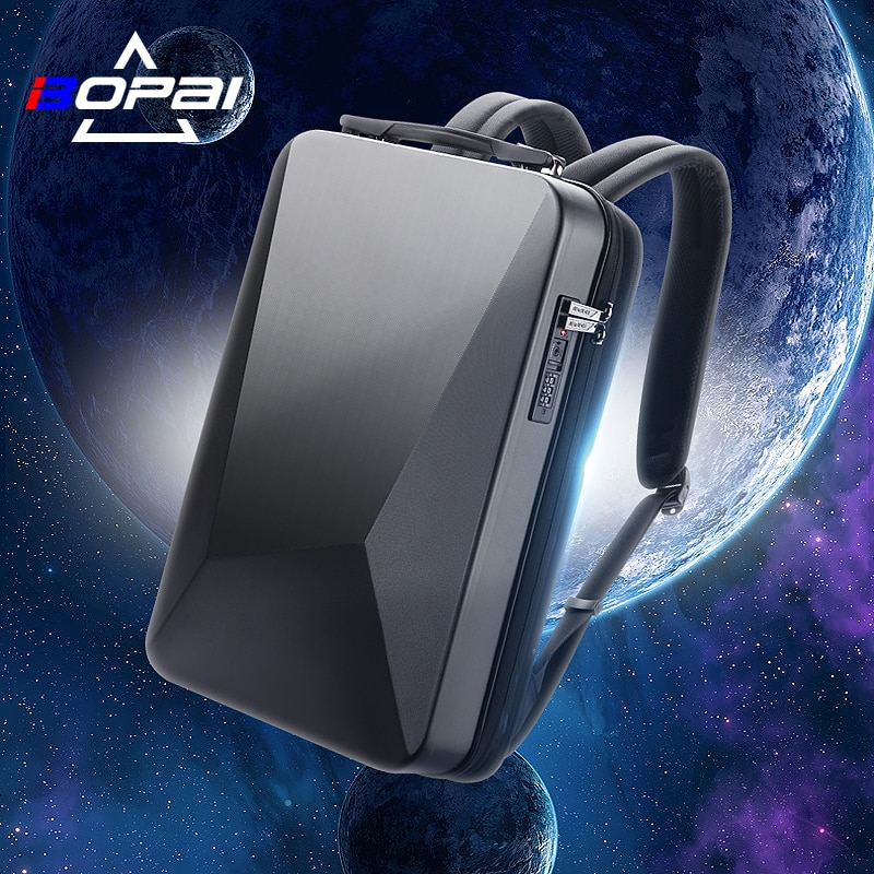 BOPAI E-Sports Laptop Backpack Anti-Theft Waterproof  College Backpack USB Charging Men Business Tra