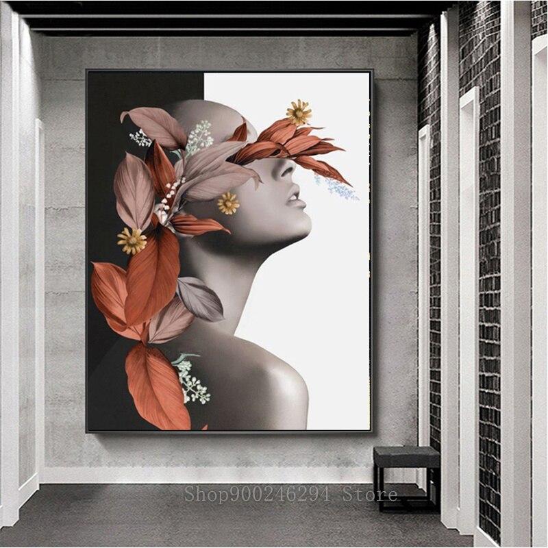 Pintura de diamantes Diy, flor abstracta moderna para mujer, pintura de mosaico de diamantes por números, bordado de diamantes, venta de kit de punto de cruz FF784