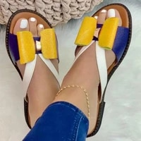 summer slides women slippers cute butterfly knot casual lady flat sandals outdoor shoes plus size female flip flops 2021 zapatos