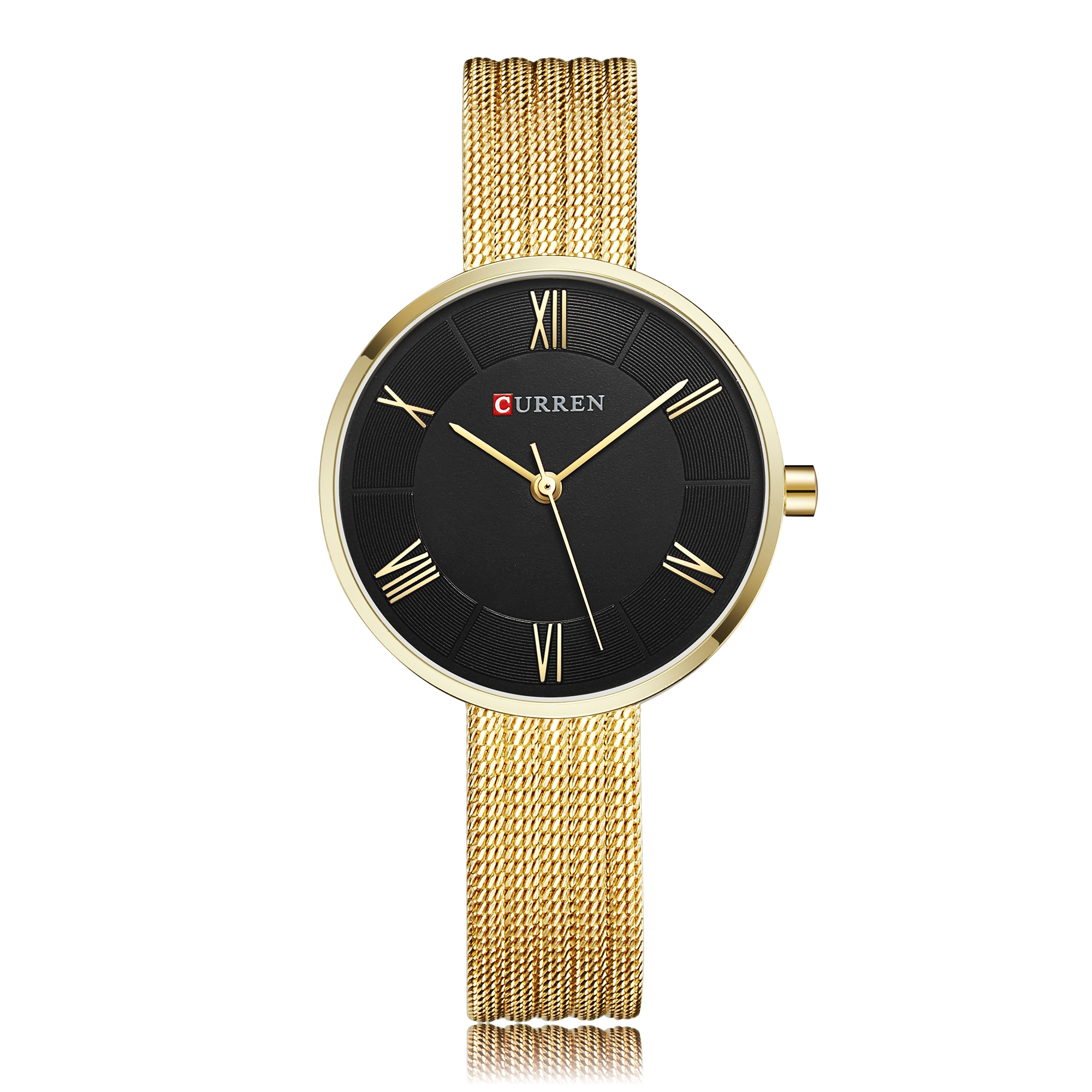 CURREN Women's Wristwatch Classic Ladies Watches Exquisite Gold Stainless Steel Girls Quartz Watches High Quality Dames Horloges enlarge