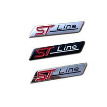 3D Styling ST-Line Emblem Car Stickers ST Line Auto Badge Doors Trunks Exterior Accessories