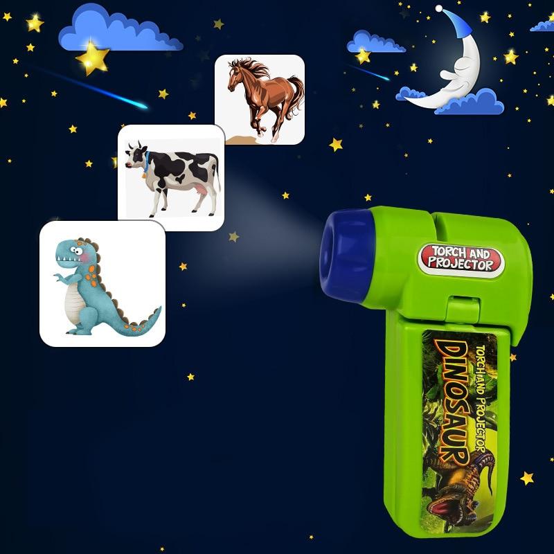Популярный проекционный фонарь, детский проектор, милая мультяшная игрушка, ночная фотография, видео-пистолет, проектор, веселые игрушки дл...