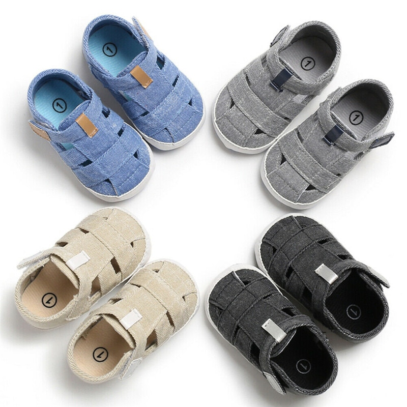 Summer Baby Girl Boy Kids Sandals Anti-Slip Crib Shoes Soft Sole Prewalkers Baby Casual Shoes