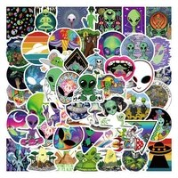 103050pcs funny psychedelic alien cartoon stickers graffiti skateboard motorcycle laptop luggage guitar cool sticker kid toys