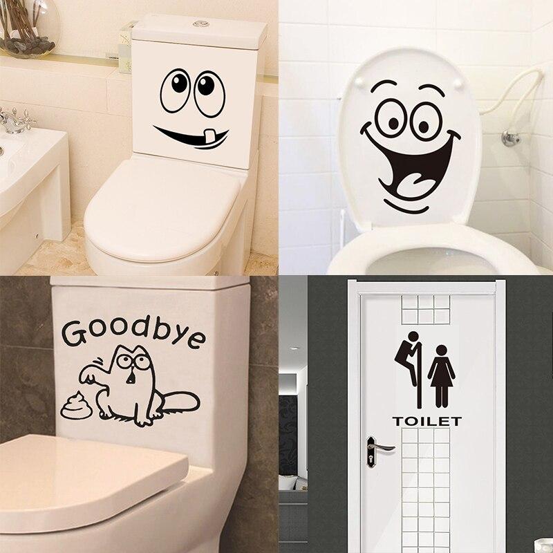 Bathroom Decoration Cartoon Stickers Home Decoration Room Wall Art stickers Anti-static наклейки