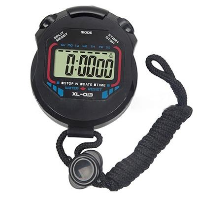 Цифровой счетчик с хронографом и таймером, водонепроницаемый спортивный Будильник ЖК секундомер дюйма, швейное кольцо, счетчик пальцев