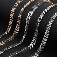 1 mètre 6mm collier Bracelet bricolage arête de poisson chaînes pour la fabrication de bijoux fournitures avion forme flèche ras du cou chaînes