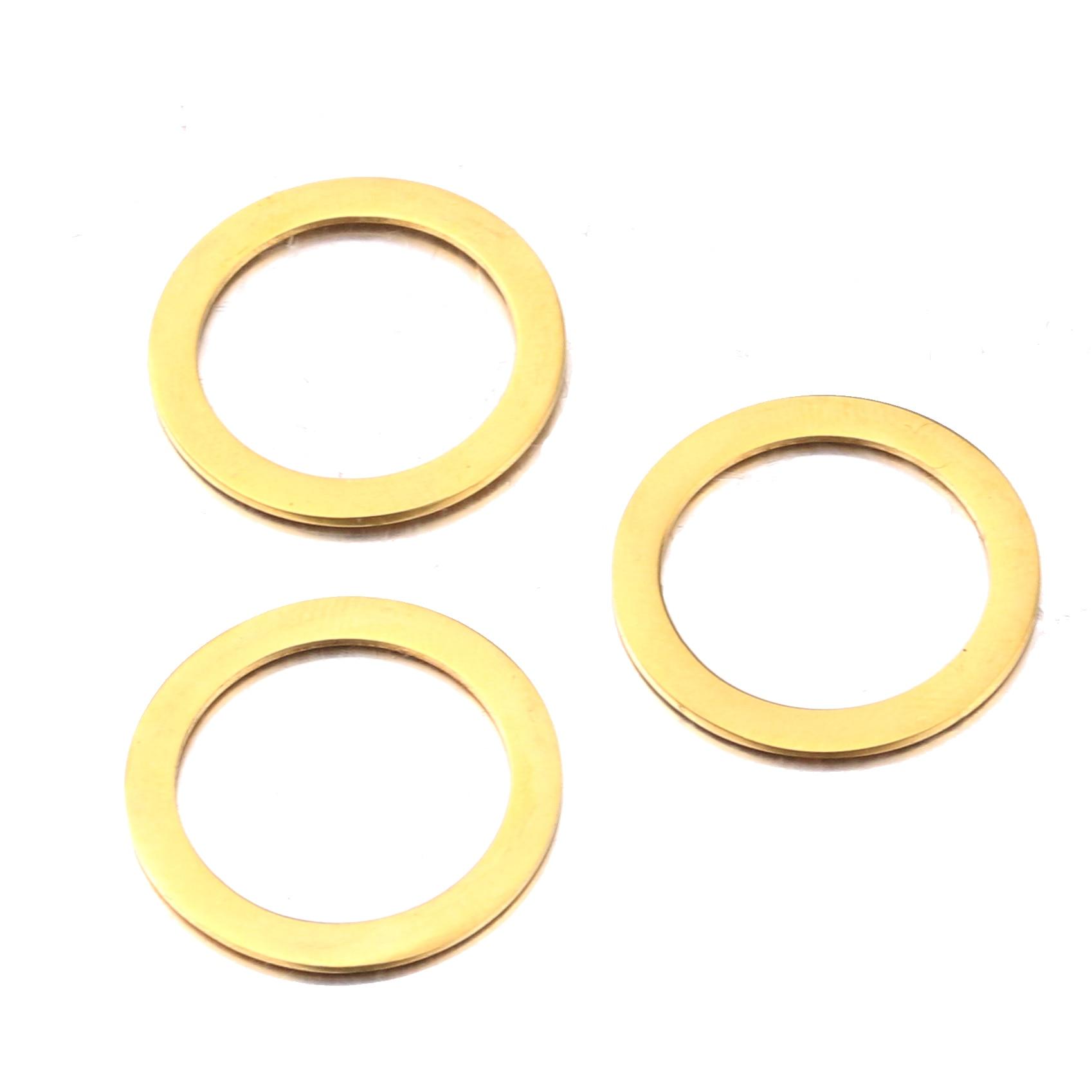 5 pçs/lote Conectores De Aço Inoxidável Gold Tone Círculo Ligações para DIY Feito À Mão Brinco Fazendo Descobertas Jóias Componentes