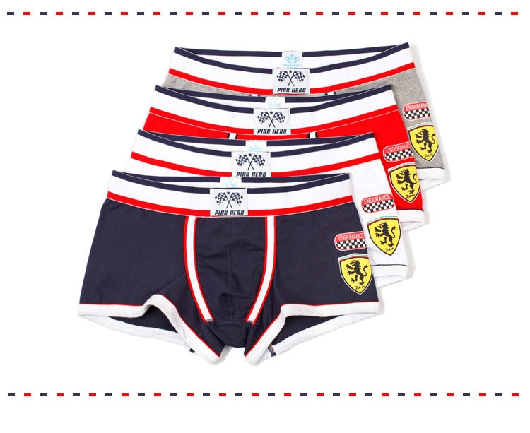 Pink Hero Male Underwear Cotton Men Boxers Sexy Men's Boxer Shorts Brand Fashion Underwear Boxer Pan