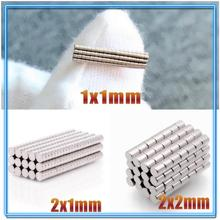 N35 Ronde Magneet 1X1 2X1 2X2 Neodymium Magneet Permanente Ndfeb Super Sterke Krachtige Magneten 1*1 2*1 2*2