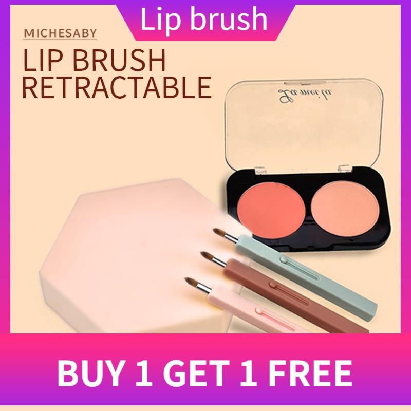 4-Color Creative Makeup Lip Brush, Retractable, Dustproof, Makeup Brush, Mini Brush, Beautiful Cosme