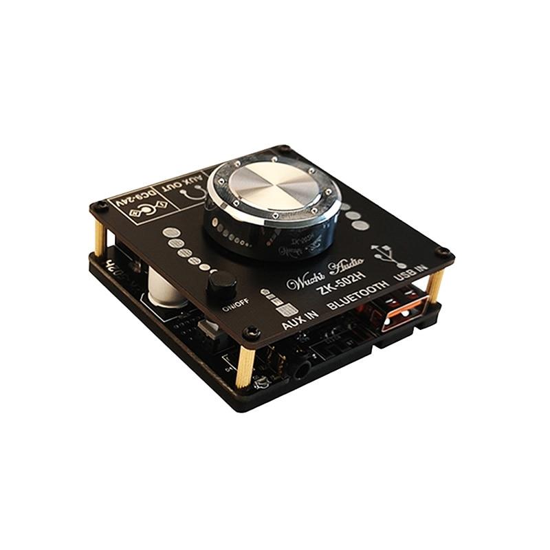 Audio Power Amplifier 2X50W Bluetooth 5.0 TPA3116D2 Stereo Channels10W-100W HiFi Digital USB Sound Card Mini Music AMP ZK 502H enlarge