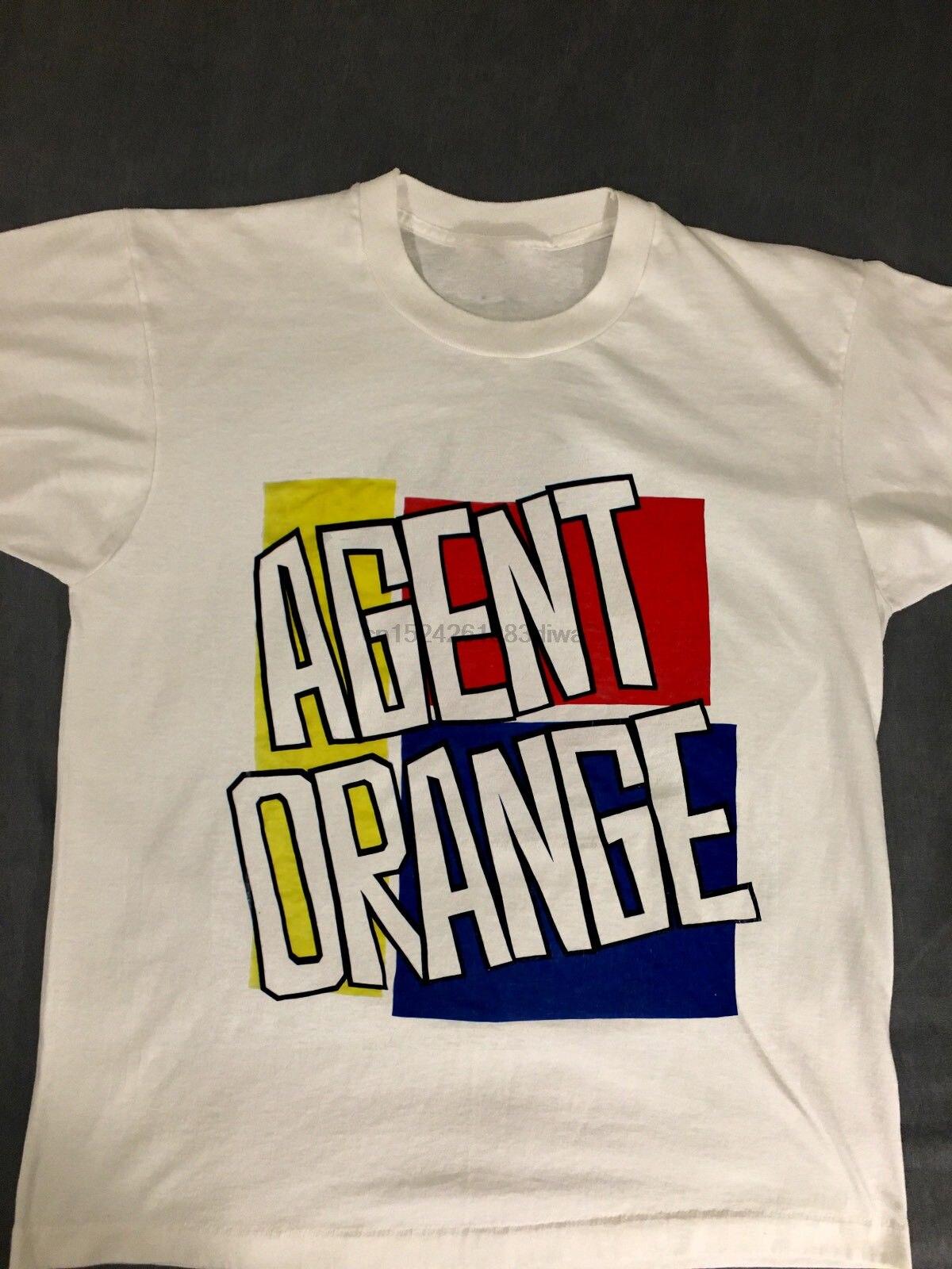 VINTAGE 80 s Agente Naranja 5050 PUNK ROCK, HARDCORE SKATE TOUR concierto camiseta