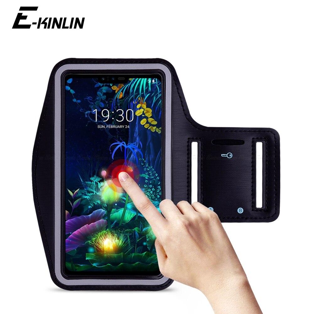 Deporte gimnasio banda de brazo para LG G8 G8S G8X G7 G6 G5 Q8 Q7 Q60 Q6 Q9 V60 V50S v50 V40 V35 V30S V30 más ThinQ de la cubierta de la caja del teléfono