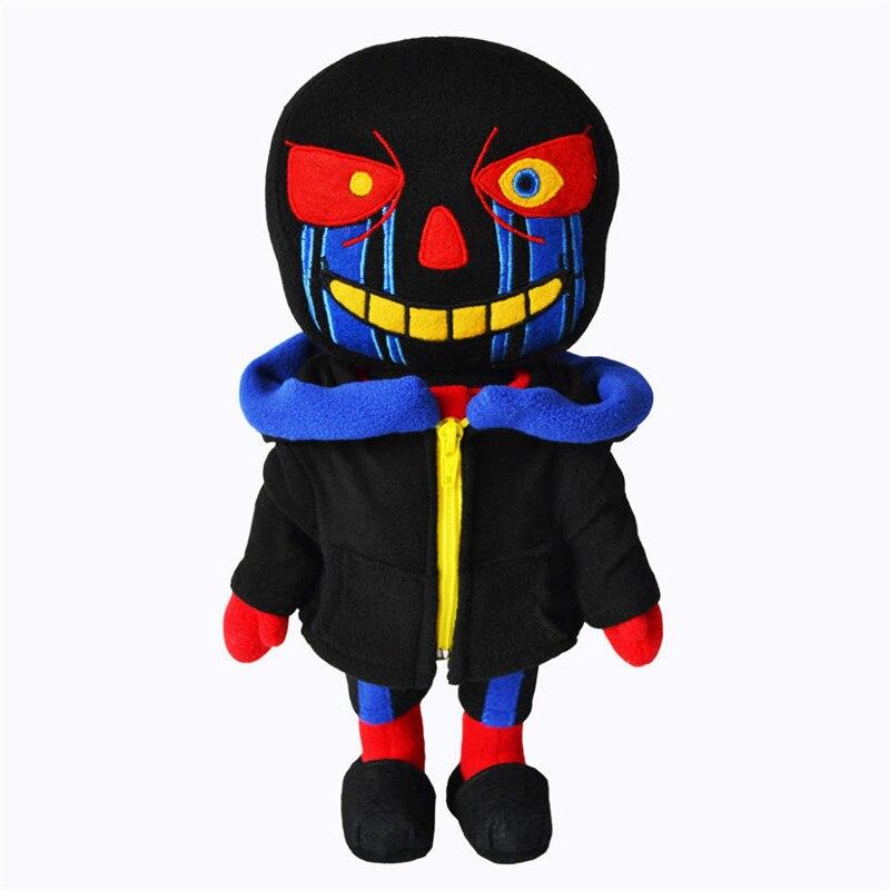 25cm Undertale Peluche de juguete Zombie de juguete Errortale peluche muñeca Sans diseñador suave peluche muñeca juguetes para niños regalos de Halloween