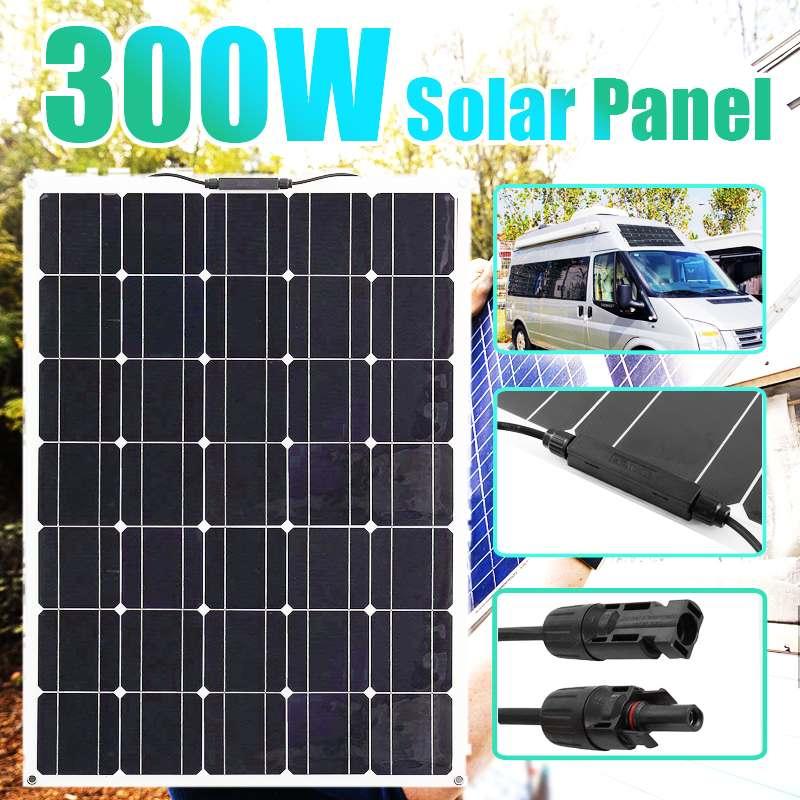 300W 18V Panel Solar Flexible Solar coche Camping RV barco energía de...