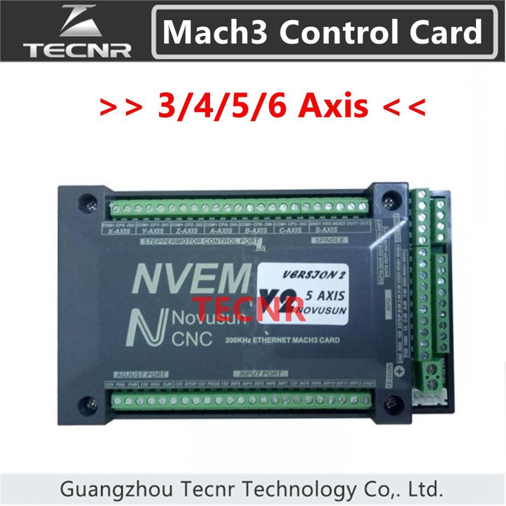 Tarjeta de Control NVEM Mach3 3 4 5 6 Axis puerto Ethernet para router CNC 300KHz para máquina de corte