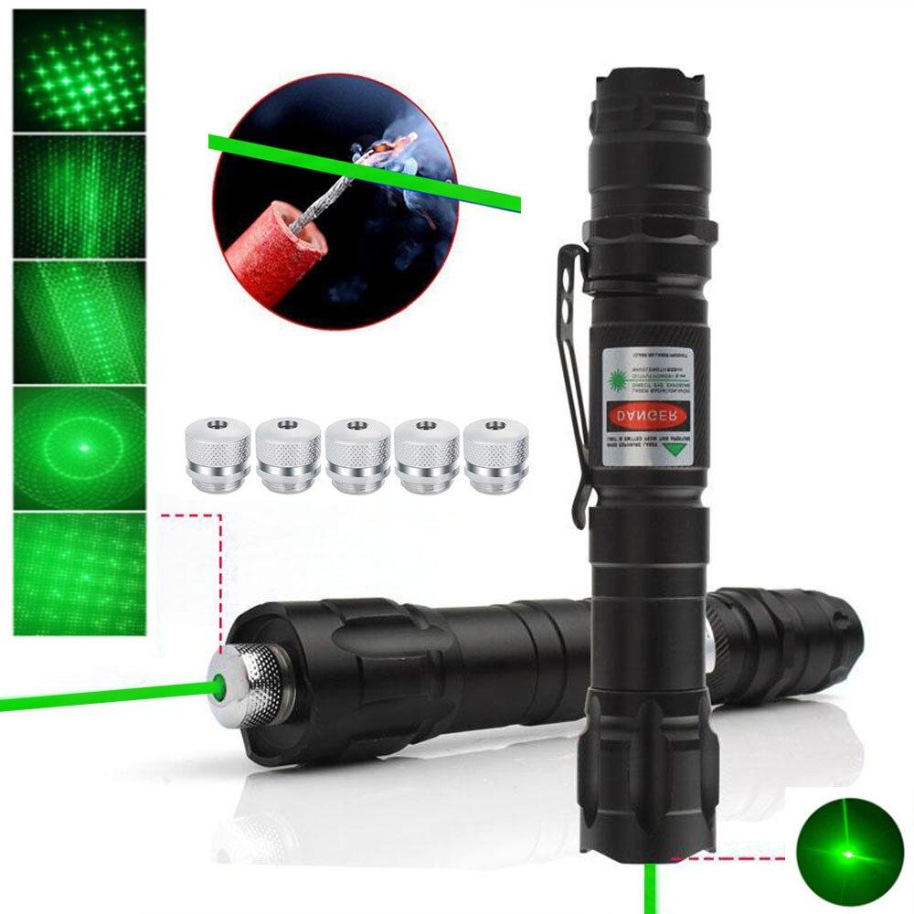 Высокая Мощность Зеленая лазерная указка 5 мВт Red Dot лазерный светильник ручка Мощность Фул лазерный Охота 2 в 1 съемный Зарядное устройство и...