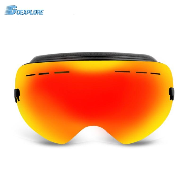 Goexplore Ski Goggles adult Winter Snow Sports Snowboard Goggle Anti-fog UV Protection Snowmobile Spherical Skiing glasses women