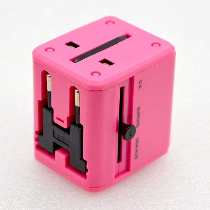 10 قطعة العالمي العالمي السفر تحويل التوصيل المقبس المزدوج USB 2.1A متعددة الوظائف تحويل التوصيل شاحن شحن مجاني البرازيل