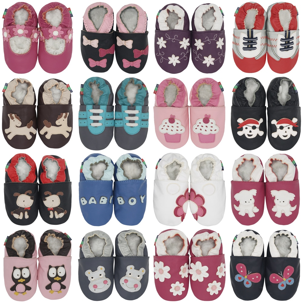 Carozoo Infant Shoes Slippers Soft Leather Baby Boys First-Walkers Girl Shoes Children's Shoes