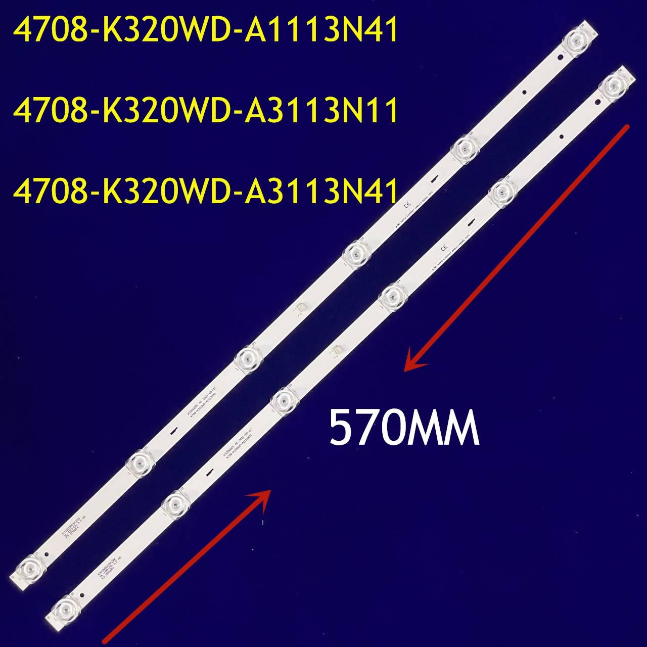 LED Backlight strip 6 lamp For 32M3080/60S 4708-K320WD-A3113N11 A3113N41 A1113N41 K320WDD1 A3 A1 358