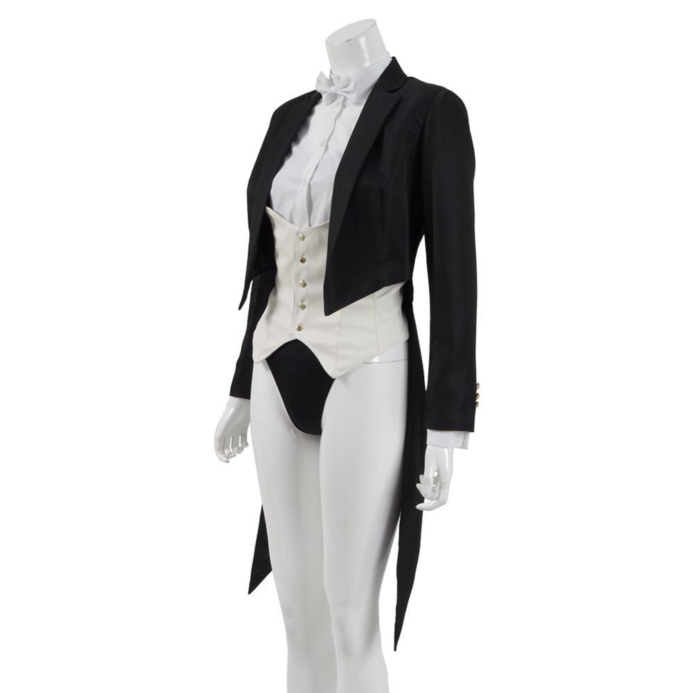 Cosdaddy superhéroe Zatanna Zatara Cosplay traje de mujer escenario mago traje de cola