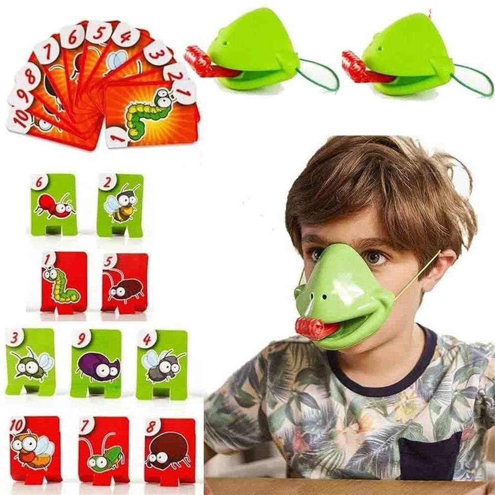 Забавная семейная Интерактивная настольная игра «Поймай баг», «Тактический язык», Настольная настольная игра, ящерица, язык едает, вредите...