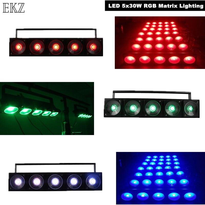 LED 5x30 واط RGB مصفوفة الإضاءة DMX التحكم والكثير الألوان LED غسل الجدار مصباح المصباح الكهربي الطويل ل DJ ديسكو مسرح عرض الضوء