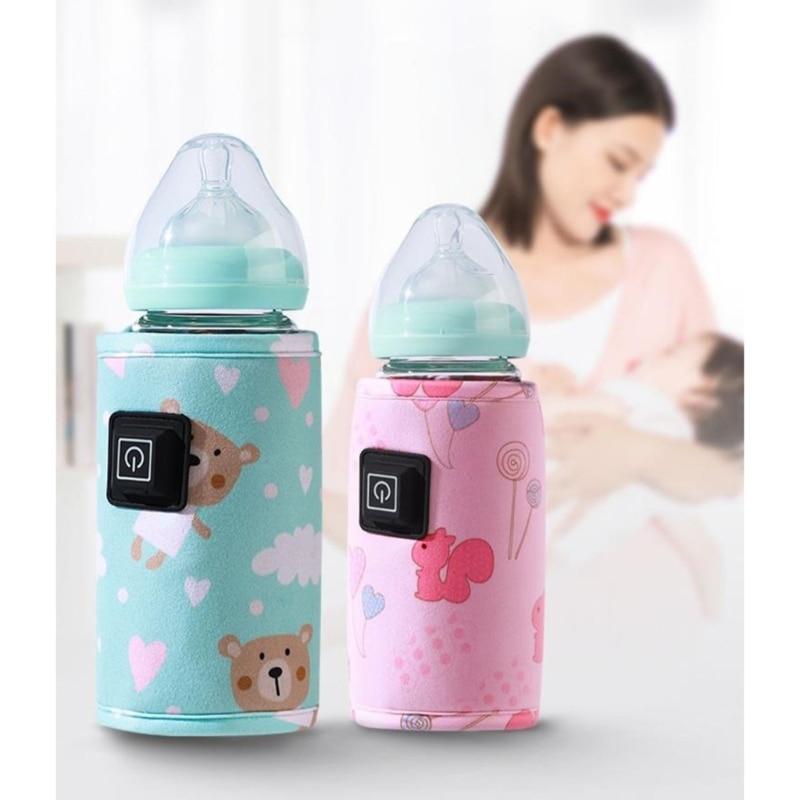 Portable Baby Bottle Warmer Milk Warmer Infant Feeding Bottle Heater Thermostat