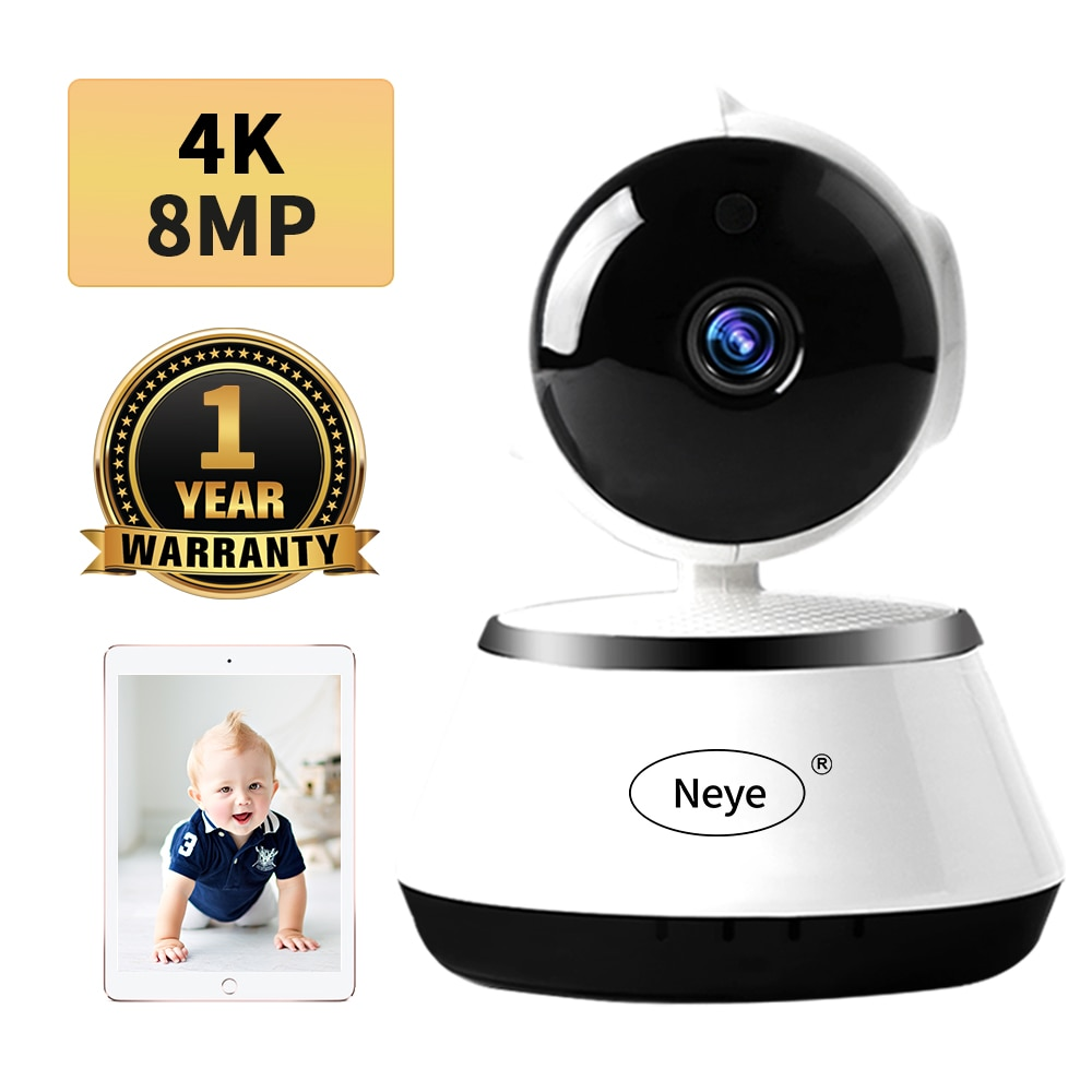 N_eye 8MP 4K/1080P HD Home Security IP Camera Two Way Audio Wireless Camera Night Vision CCTV WiFi Camera Baby Monitor Pet cam