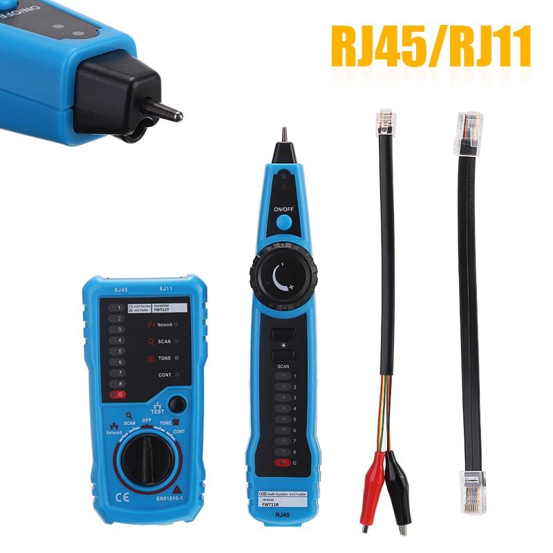 1 Juego de probador de Cable duradero, probador de Cable de red, herramientas de seguimiento de Cable de red para RJ45/RJ11 LAN DSL