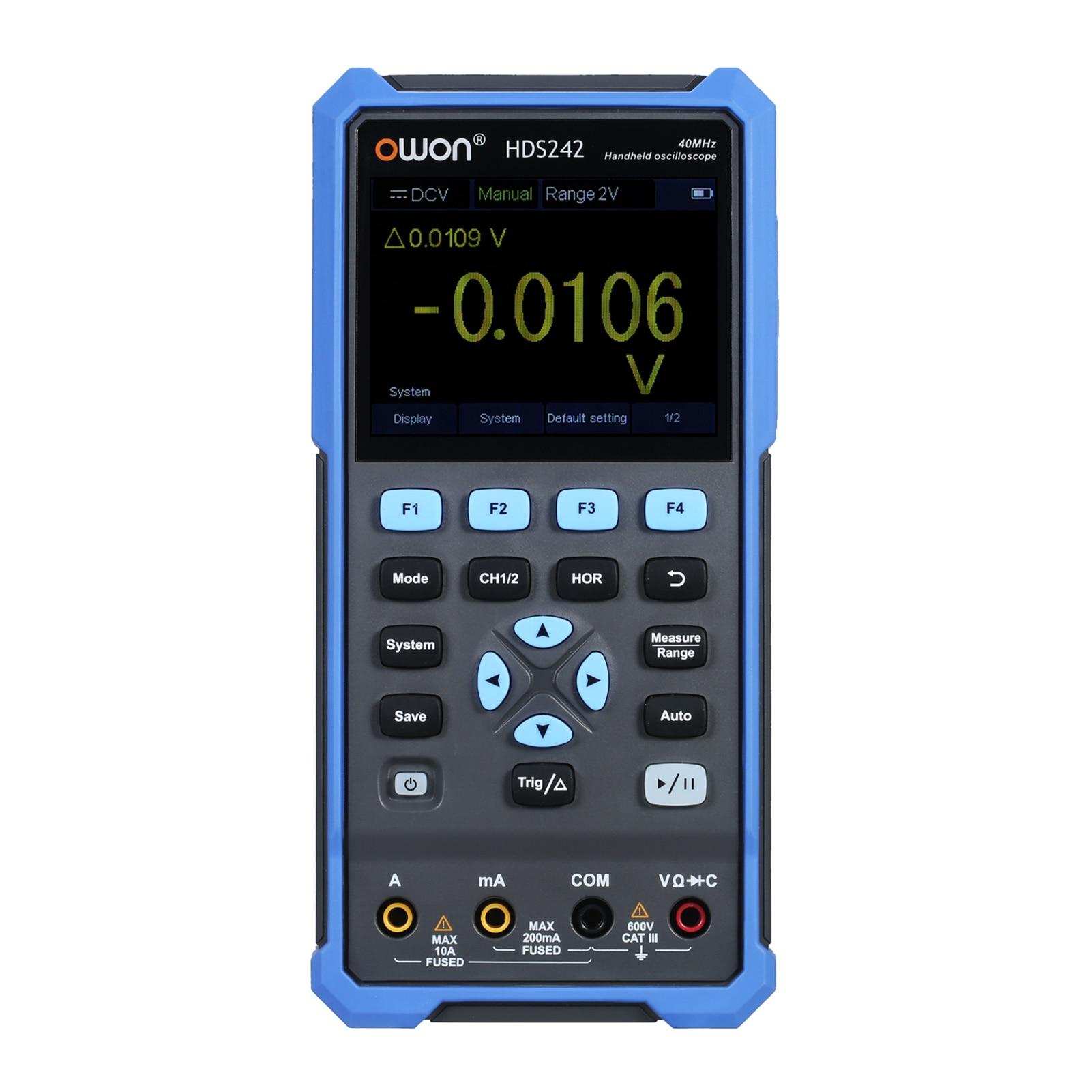 Owin HDS242 HDS272 3 في 1 يده ملتقط الذبذبات الرقمي مولد الموجي المتعدد 2CH USB TypeC 40/70MHz 3.5 LCD اختبار متر