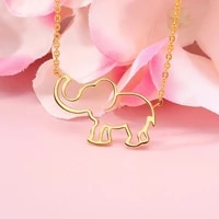 fashion baby elephant necklaces for woman stainless steel choker bohemian couple pendant women jewelry gift necklace trend
