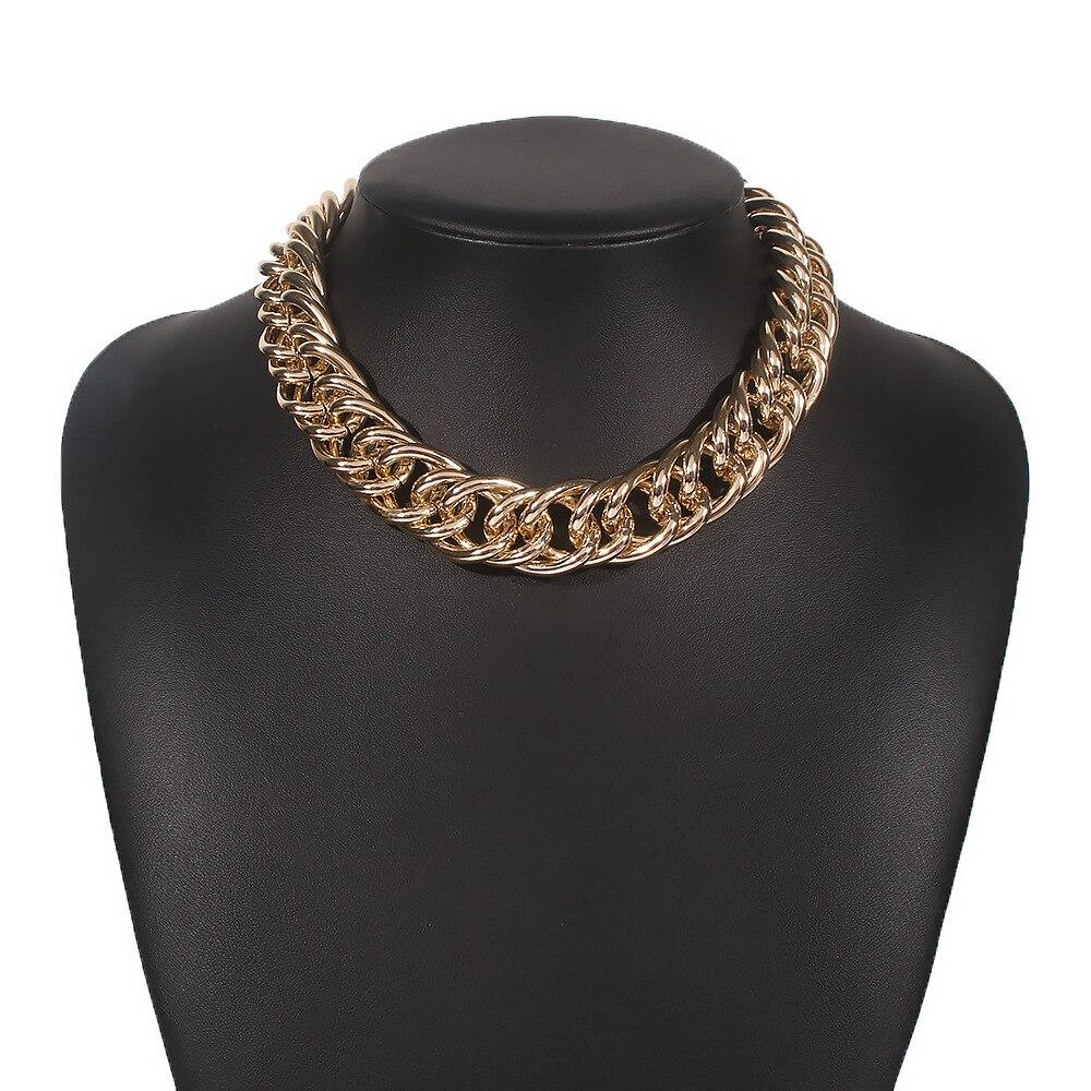 Chaîne trapue sur le cou épais massif collier ras du cou 2020 bijoux pour les femmes esthétique décorations accessoires de mode
