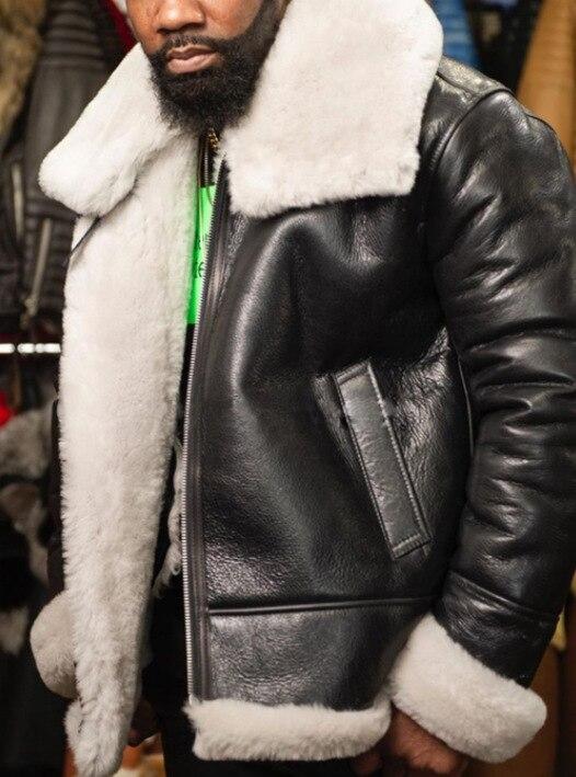 Chaqueta de piel sintética para hombre, abrigo de guata coreano Harajuku, Parka...