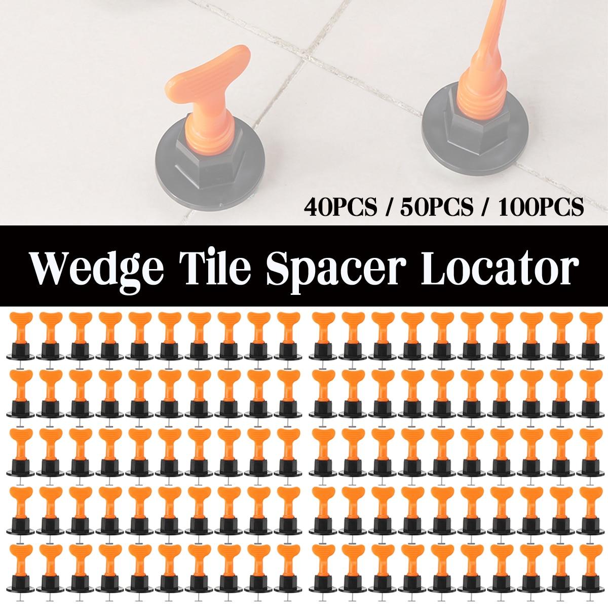100 pièces / ensemble cales de nivellement de carreaux d'alignement système d'espaceurs de carreaux niveleur en céramique plat pour localisateur d'outils de construction de murs