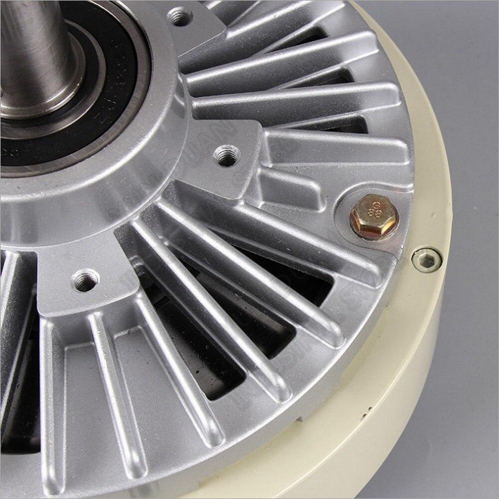 100Nm 10 كجم تيار مستمر 24 فولت واحد رمح واحد المغناطيسي مسحوق الفرامل 30 مللي متر 1000 دورة في الدقيقة فك ل التوتر التحكم حقيبة الطباعة آلة الصباغة