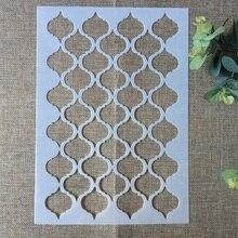 29*21 centimetri Onda Geometria Texture FAI DA TE Stratificazione Stencil Pittura Murale Scrapbook Colorazione Goffratura Album Decorativo Modello di Scheda