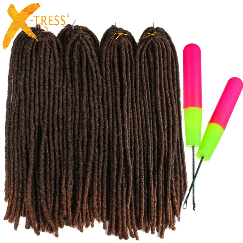 Synthetic Faux Locs Crochet Braids Hair Dreadlocks Knotless Hook Dreads Ombre Color Braiding Hair Extensions For Women X-TRESS