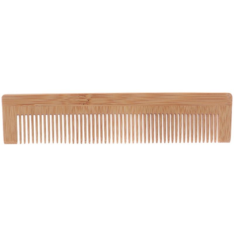 Peine de madera para masajes bambú cabello ventilación cepillos cuidado del cabello belleza SPA masajeador peine de Bambú