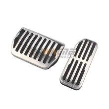 Repose-pied plaquettes en acier inoxydable   Pour Jaguar XE X760 XF X260 f-pace X761 LHD véhicule frein à gaz, patins en acier inoxydable
