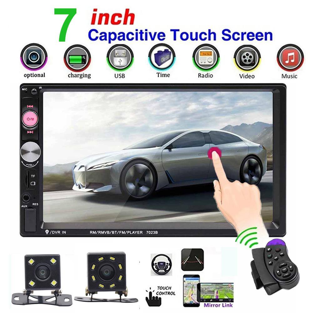 Radio de coche Bluetooth transmisor FM HD 7023B 7 pulgadas 2 Din Radio de coche Bluetooth Audio Video mp5 reproductor de coche con cámara trasera