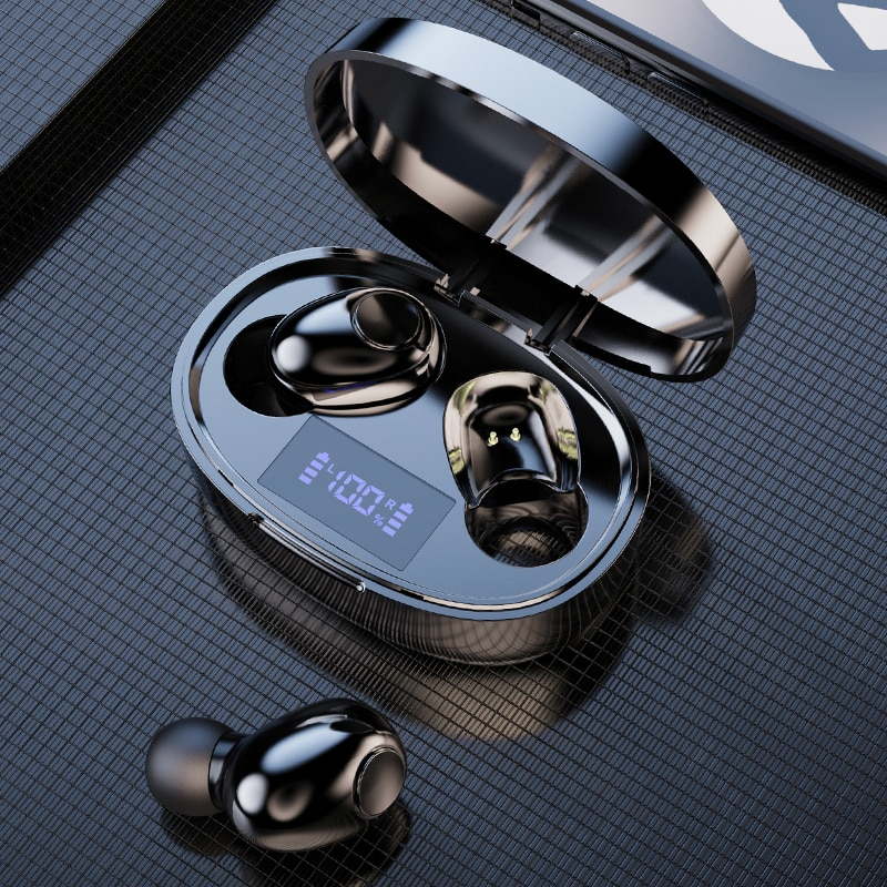TWS Bluetooth 5.1 Earphones 2200mAh Charging Box Wireless Headphone LED Display Mini Earbuds HD Ster