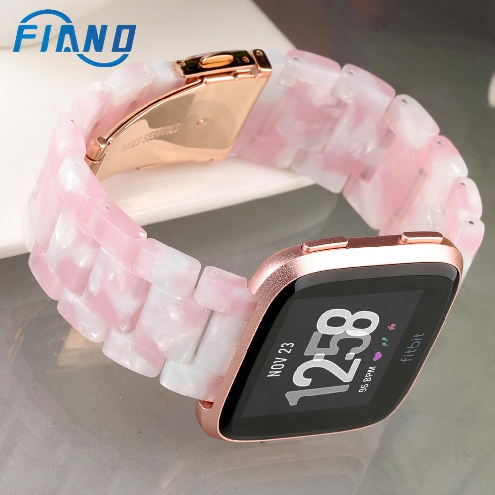 2020 nueva correa de reloj de resina rosa para todos Fitbit Versa/Versa Lite/Versa 2 Correa de reloj para deporte