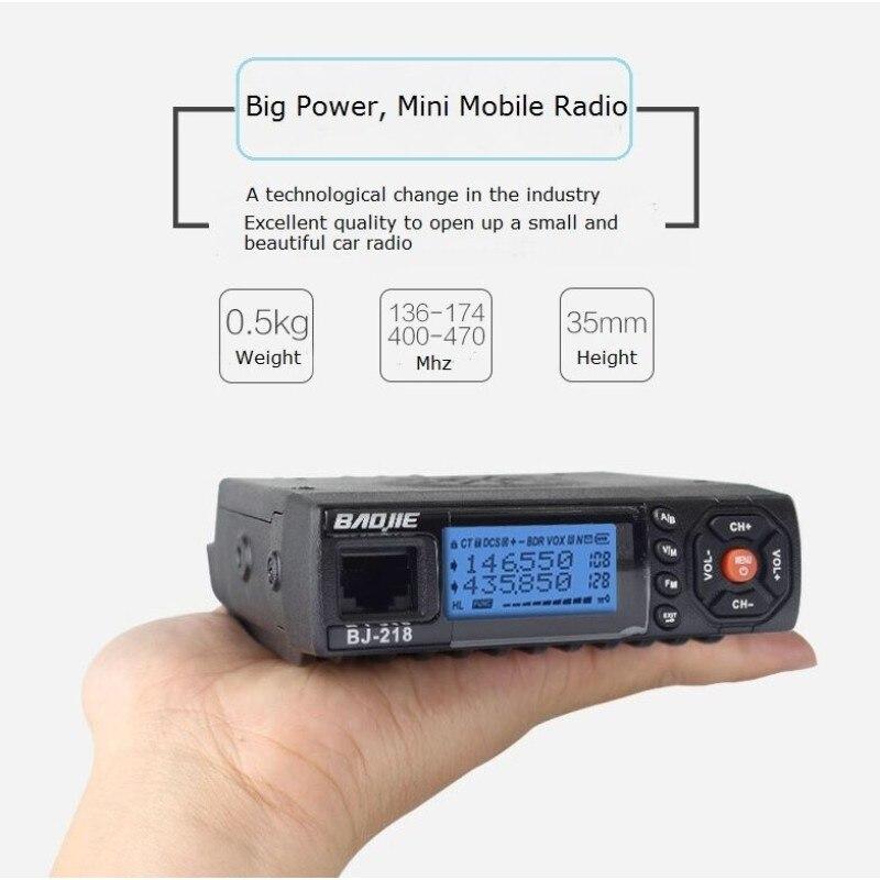 Baojie мини мобильный радио BJ-218 144/430 МГц 25 Вт передачи PowerDual Диапазонный автомобильный радиоприемник