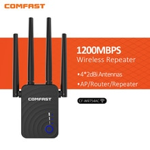 5 pces comfast CF-WR754AC casa sem fio 1200mbps roteador wifi 4 * 2dbi repetidor ap 5ghz extensor de longo alcance amplificador de antena impulsionador