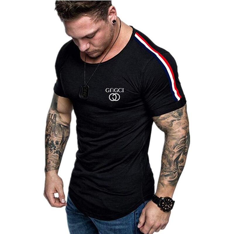 ¡Novedad de 2020! Camiseta informal de verano para hombre, estilo Hip Hop, con cremallera, estilo callejero y dobladillo doblado, camiseta fina