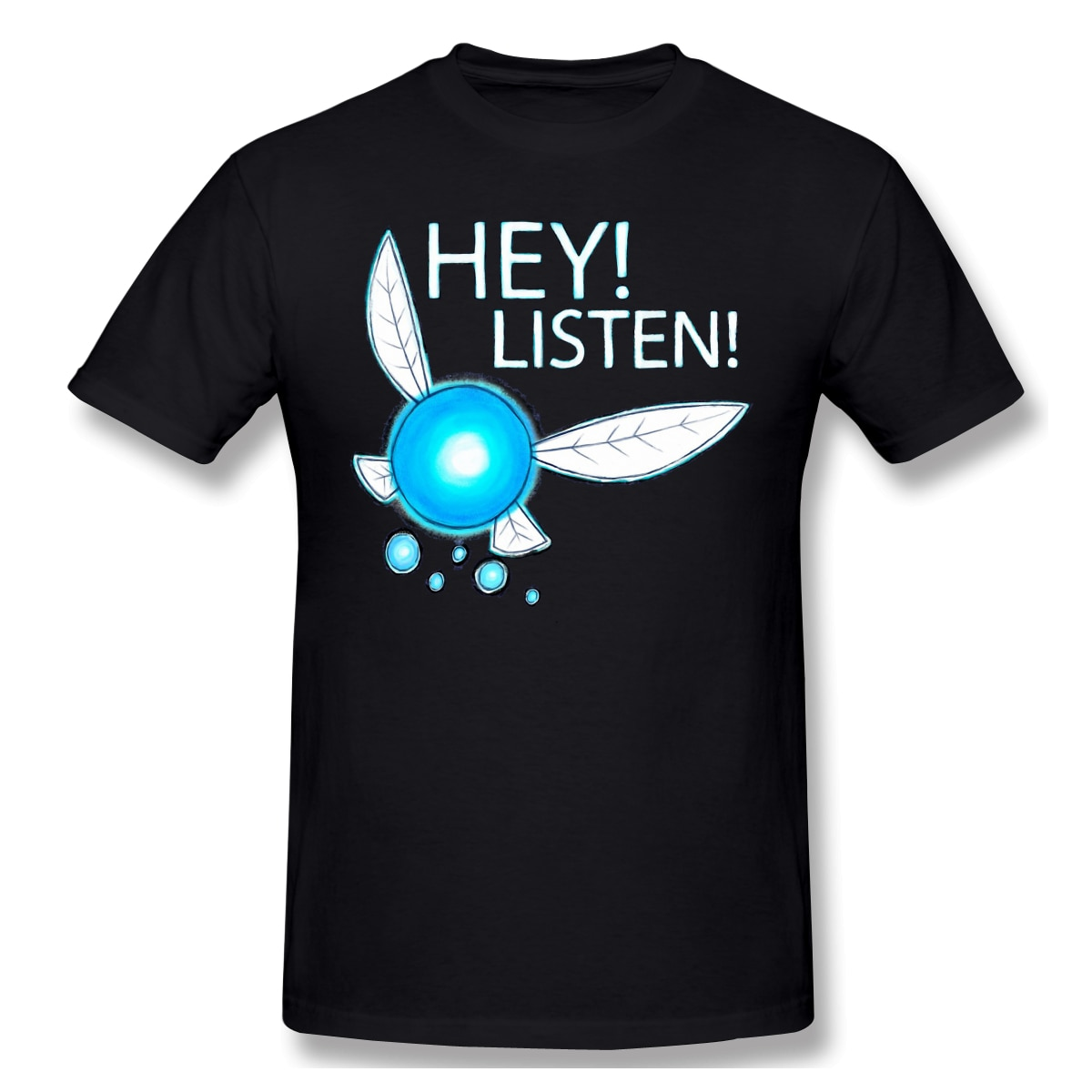 ¡Navi! ¡Oye! Camiseta suelta de manga corta de verano de algodón 100% de alta calidad para hombre de LISTENT