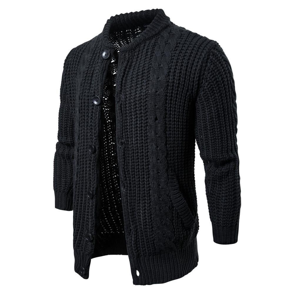 Men's cotton sweater, round neck sweater.